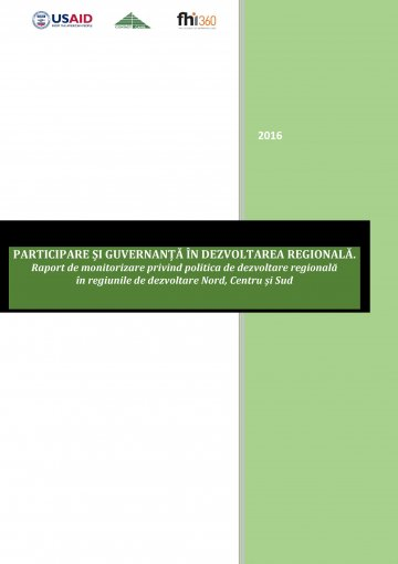 Raport participare si guvernanta in dezvoltare regionala