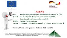 Centrul CONTACT-Cahul anunță înregistrarea participanților la seminarul de instruire de 2 zile ONLINE