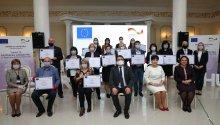 UE-GIZ // Comunicat de presă  15 organizații ale societății civile din Regiunea Sud au primit certificate de grant din partea Uniunii Europene.