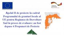 UE // Apelul II de proiecte în cadrul Programului de granturi locale al UE pentru Regiunea de Dezvoltare Sud în proces de evaluare