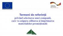 """UE // Termeni de referință  privind selectarea unei companii, care va asigura editarea și imprimarea materialelor promoționale în cadrul proiectului """"Suport în Abilitarea cetățenilor din Regiunea de Dezvoltare Sud"""""""