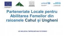 Instruire în acțiunile de pledoarie pentru politici publice sensibile la dimensiunea de gen în comunitățile din raioanele Cahul și Ungheni